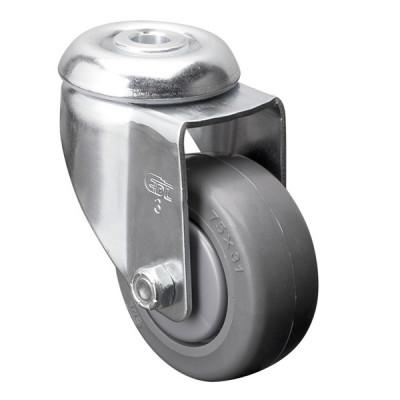 Roue 3 pouces avec boulon central pivotant - Fini chrome (Livraison gratuite partout au Québec pour les achats de 75$ et plus à l'exception du grand nord)