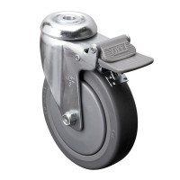 Roue 5 pouces avec boulon central et frein * Fini chrome (Livraison gratuite partout au Québec pour les achats de 75$ et plus à l'exception du grand nord)