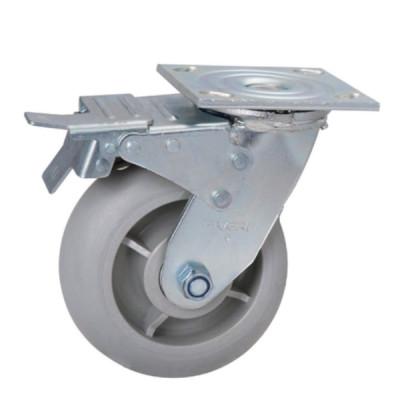 Roue / Roulette - Plaque pivotante avec frein (Livraison gratuite partout au Québec pour les achats de 75$ et plus à l'exception du grand nord)