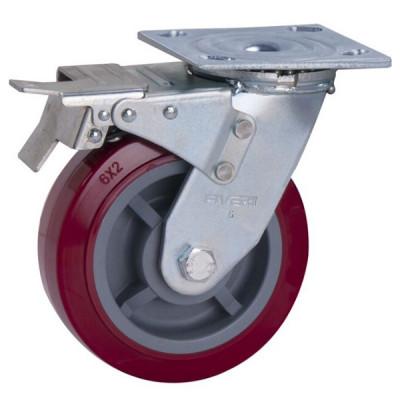Roue / Roulette - Plaque pivotante avec frein (Livraison gratuite partout au Québec pour les achats de 75 $ et plus à l'exception du grand nord)