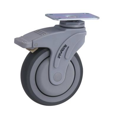 Roue, roulette médicale 5 pouces avec plaque pivotante et frein bidirectionnel (Livraison gratuite partout au Québec pour les achats de 75$ et plus à l'exception du grand nord)