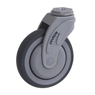 Roue, roulette médicale 5 pouces avec boulon central pivotant (Livraison gratuite partout au Québec pour les achats de 75$ et plus à l'exception du grand nord)
