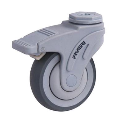 Roue / roulette médicale 4 pouces avec boulon central pivotant avec frein bidirectionnel (Livraison gratuite partout au Québec pour les achats de 75 $ et plus à l'exception du grand nord)