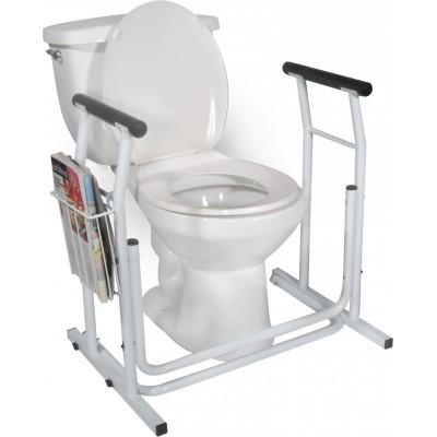 Cadre d'appui de sécurité de toilette sur pied