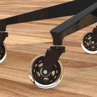Roue / Roulette haut de gamme de style roller blade pour chaise de bureau  (Livraison gratuite partout au Québec pour les achats de 75$ et plus à l'exception du grand nord)